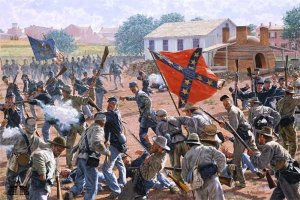 Bedlam In The Brickyard - Gettysburg by Bradley Schmehl