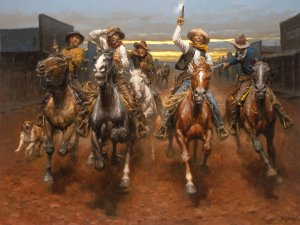 Charge of the Bar T Brigade by Andy Thomas