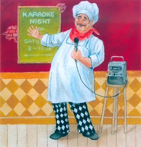Karaoke Chef by Gloria Eriksen