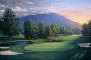 Sunset at the 17th by Larry Dyke