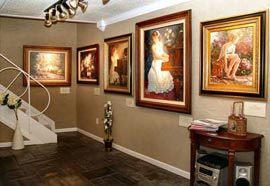 Thomas Kinkade at the Village Front Room
