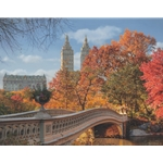 Autumn in Central Park by Rod Chase - Gallery Wrap
