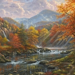 Paradise Valley by Abraham Hunter - Gallery Wrap