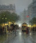 Evening on Broadway by G. Harvey