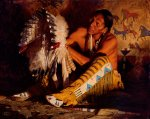 Red Feathers by David Mann