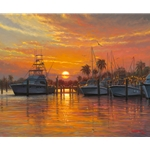 Sunset Harbor by Mark Keathley