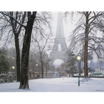 A Foggy Morning in Paris by Rod Chase - Gallery Wrap